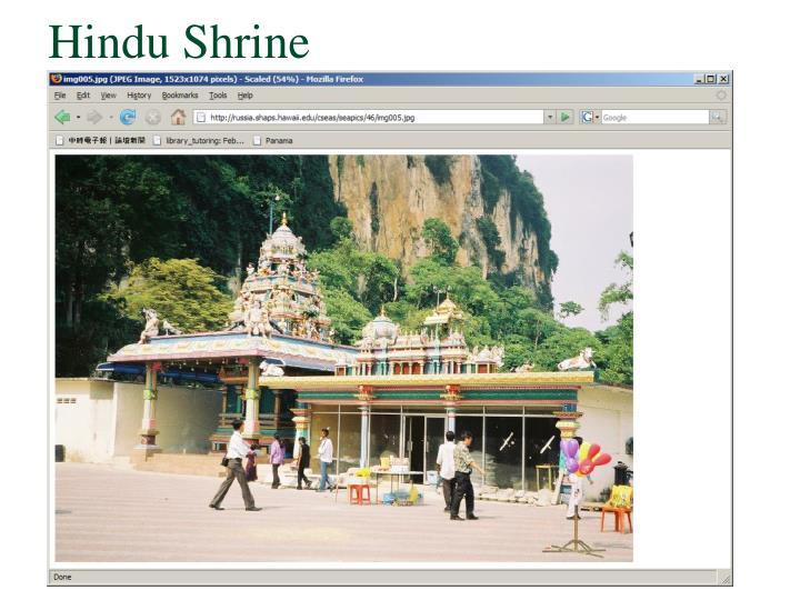 Hindu Shrine