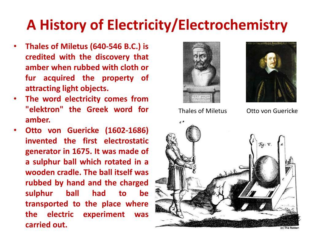 A History of Electricity/Electrochemistry