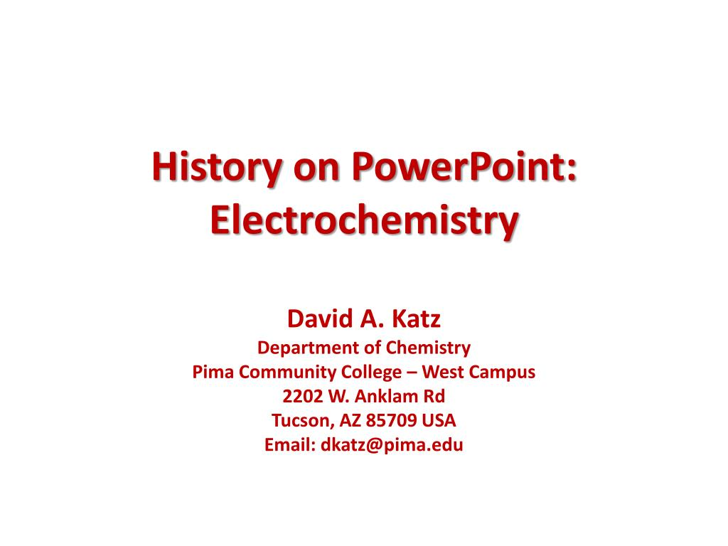 History on PowerPoint:
