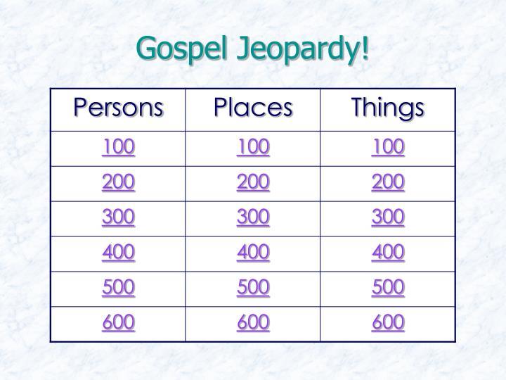 Gospel Jeopardy!