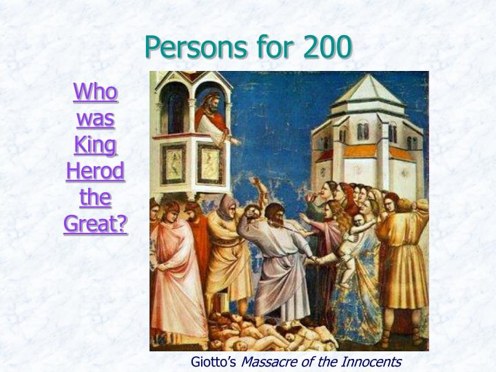 Persons for 200