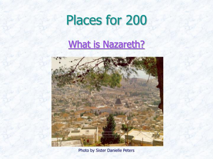 Places for 200