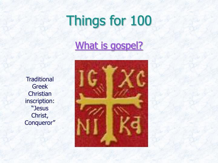 Things for 100