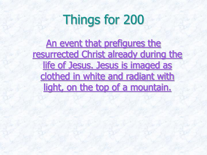 Things for 200