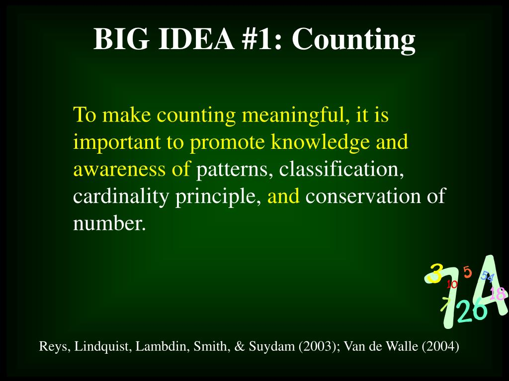 To make counting meaningful, it is important to promote knowledge and awareness of