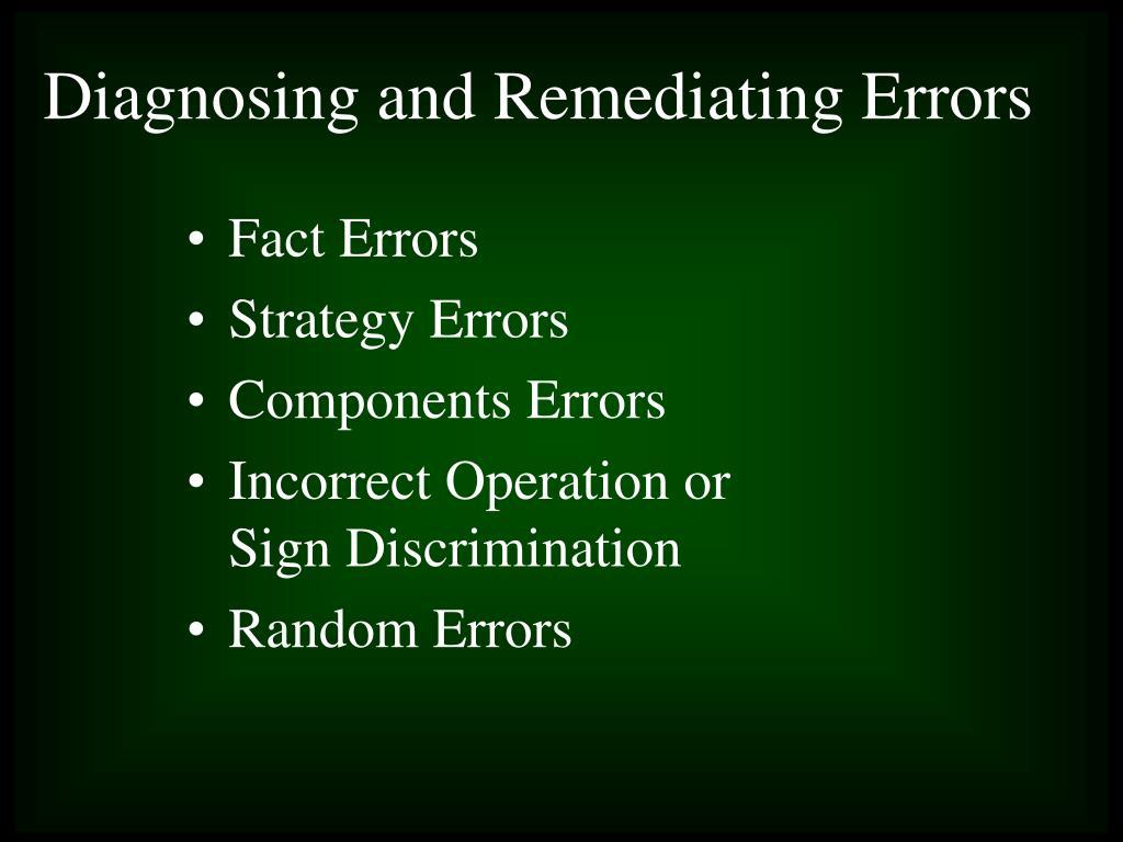 Fact Errors
