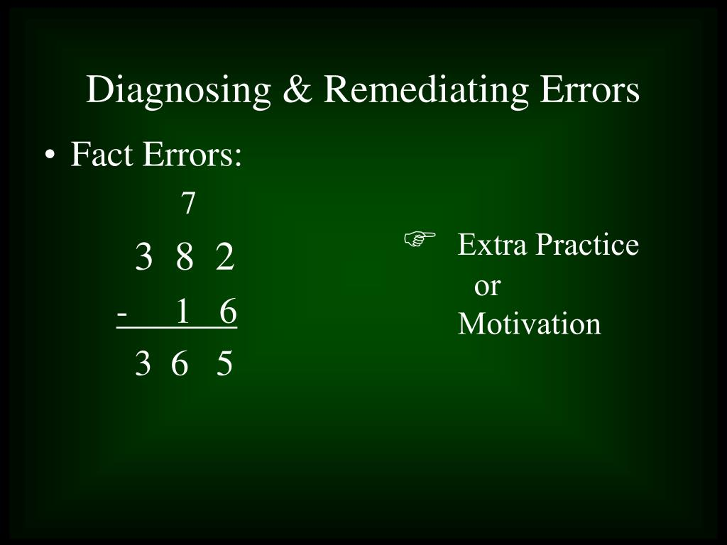 Fact Errors: