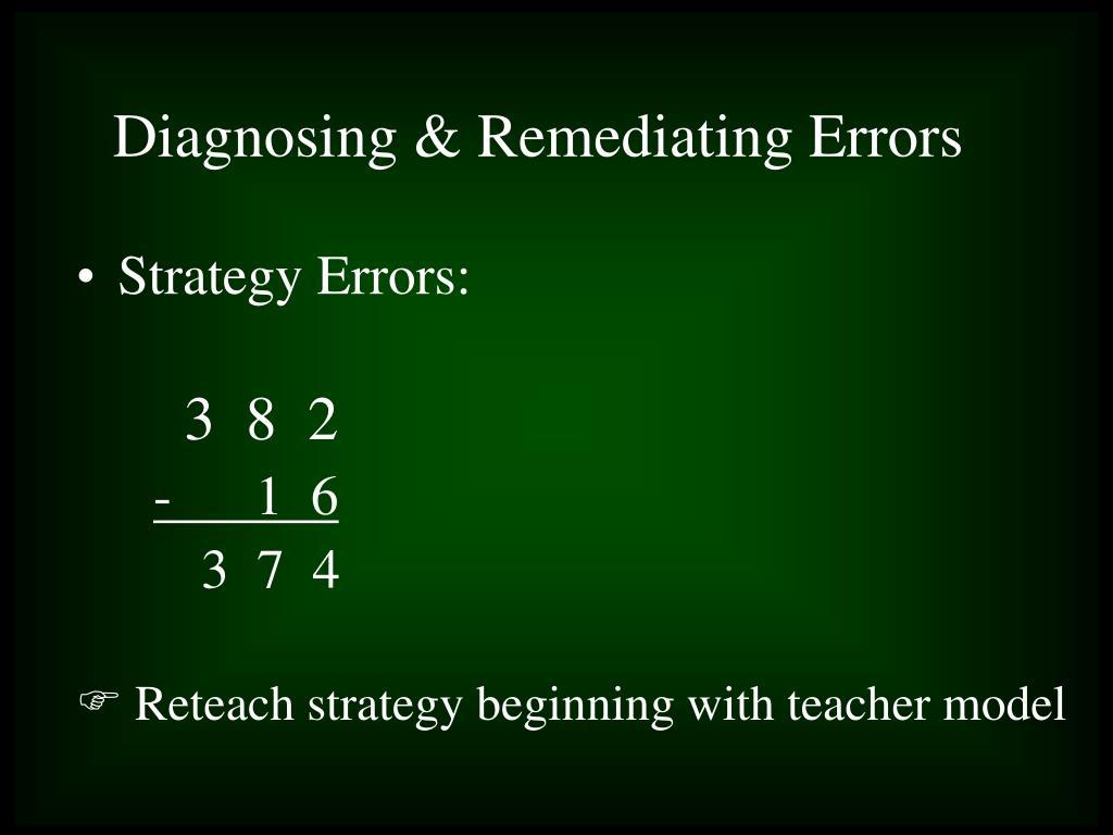 Strategy Errors: