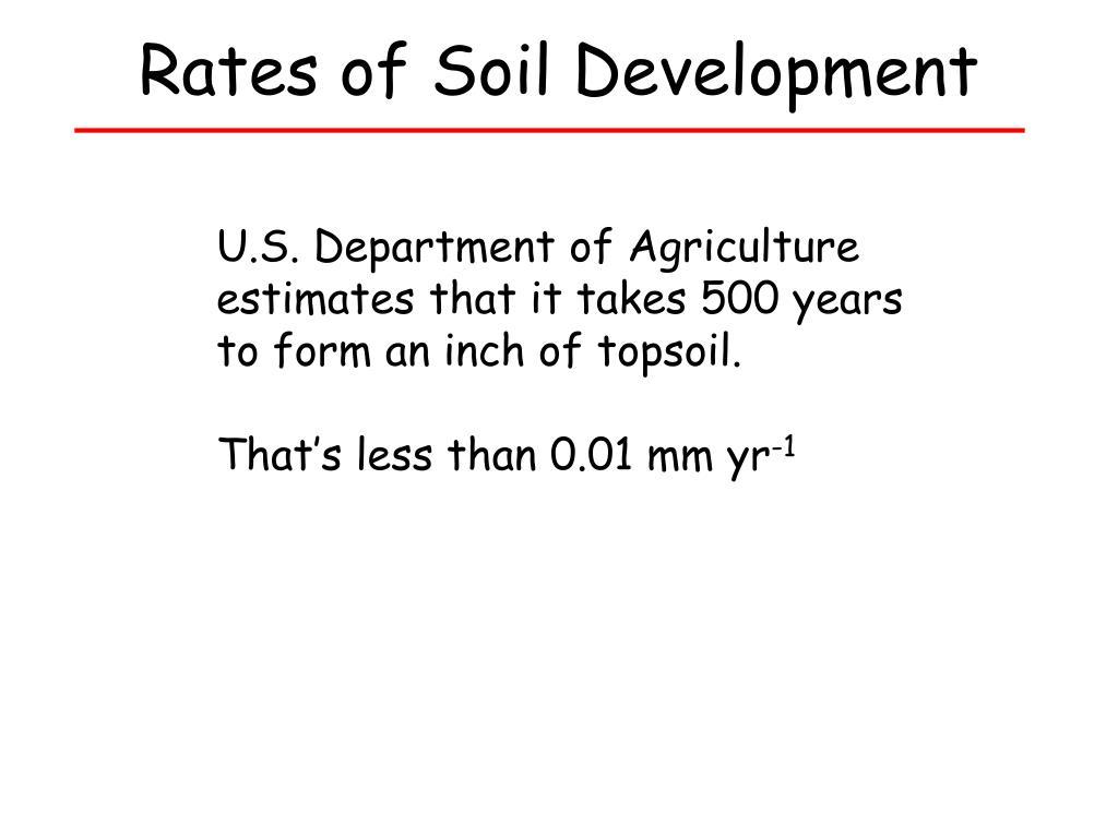 Rates of Soil Development