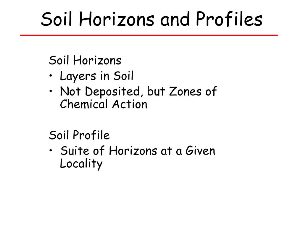 Soil Horizons and Profiles