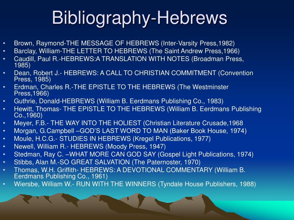 Brown, Raymond-THE MESSAGE OF HEBREWS (Inter-Varsity Press,1982)
