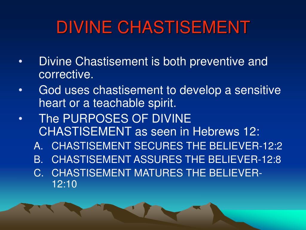 DIVINE CHASTISEMENT