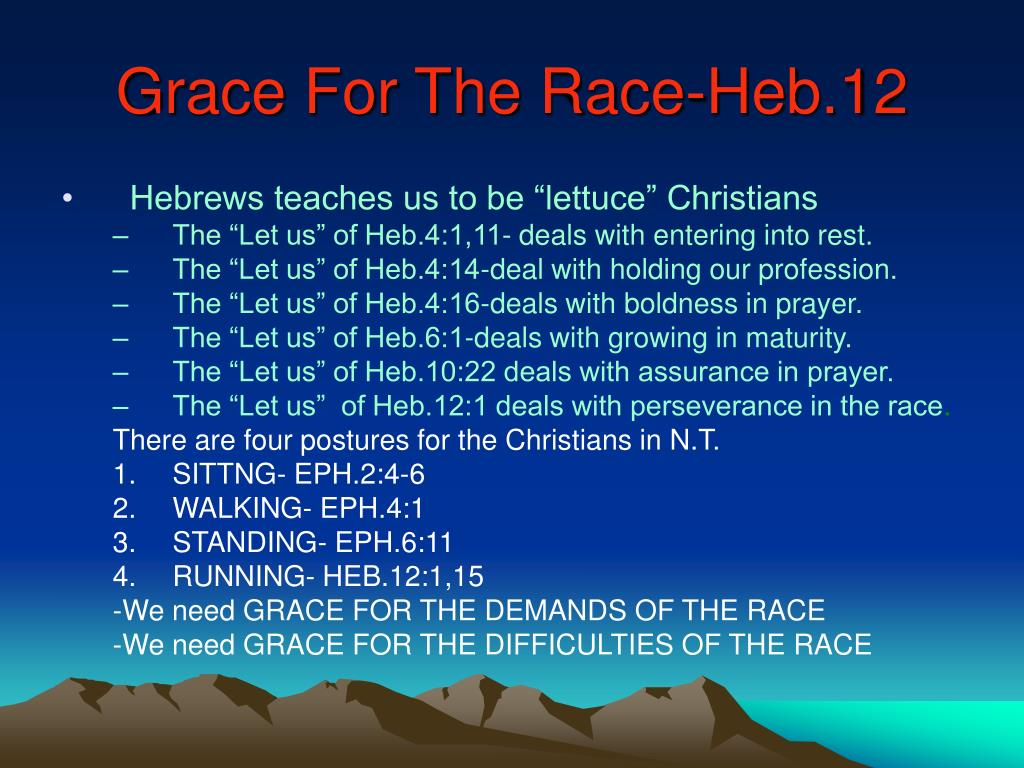 Grace For The Race-Heb.12
