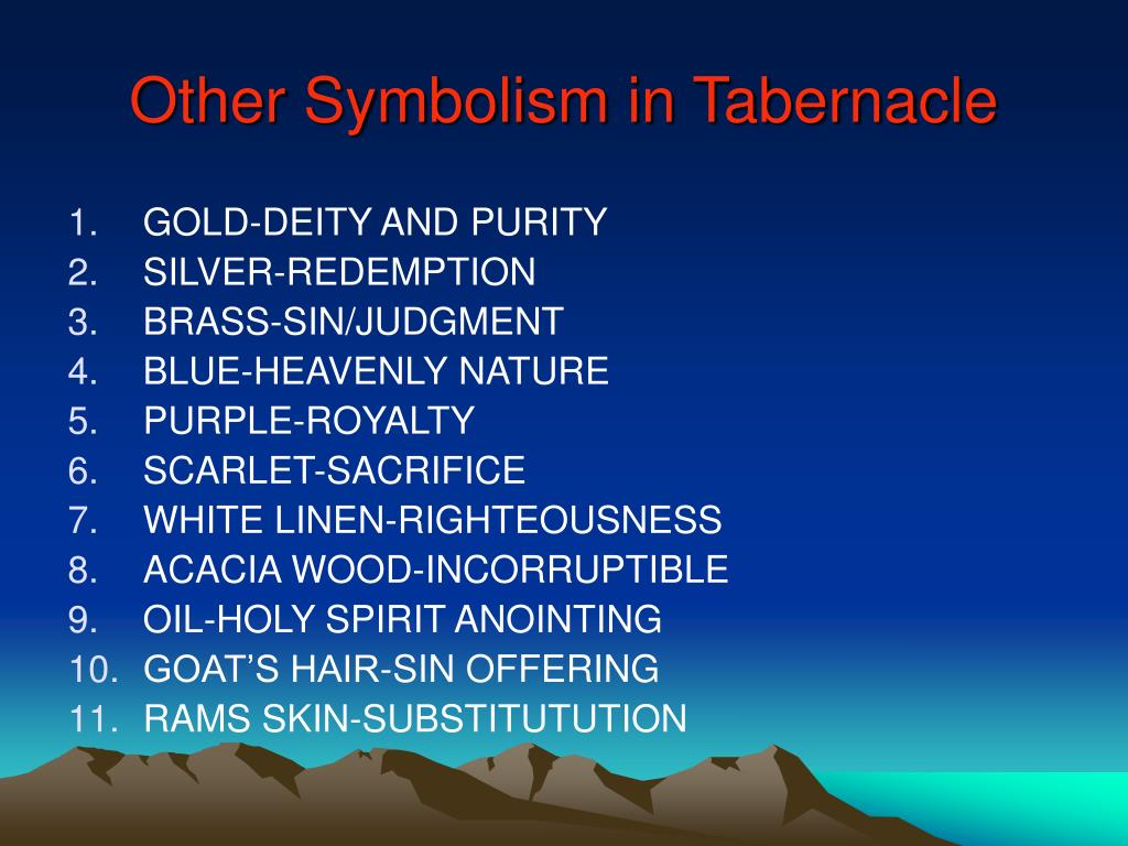 Other Symbolism in Tabernacle