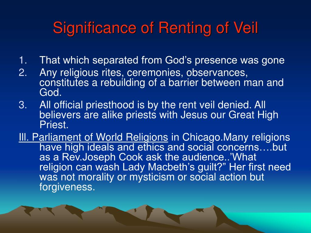 Significance of Renting of Veil