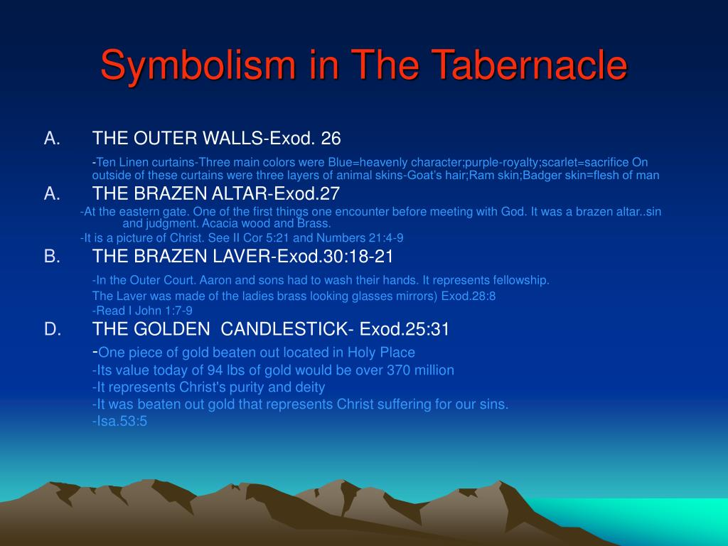 Symbolism in The Tabernacle