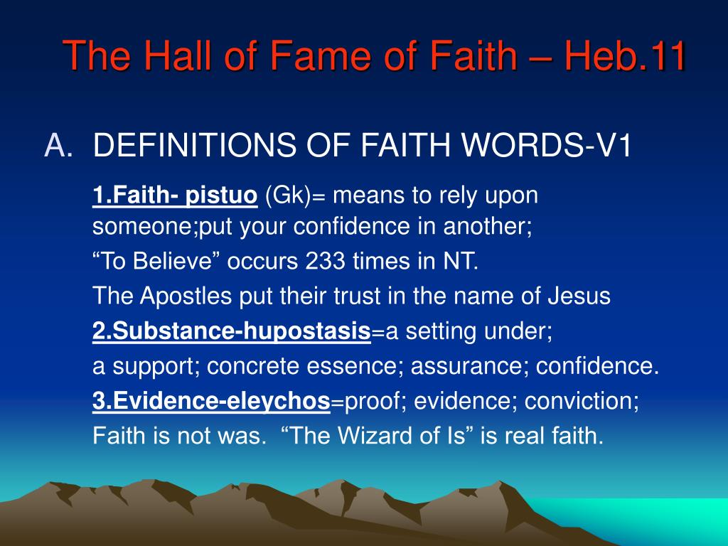 The Hall of Fame of Faith – Heb.11