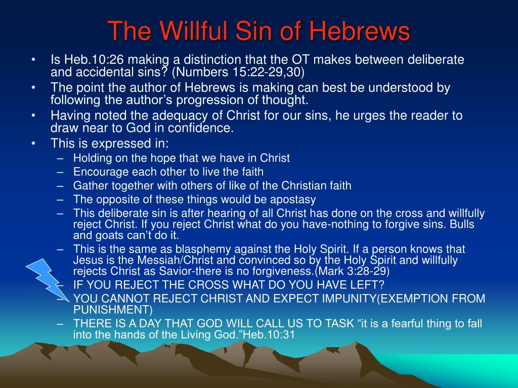 The Willful Sin of Hebrews