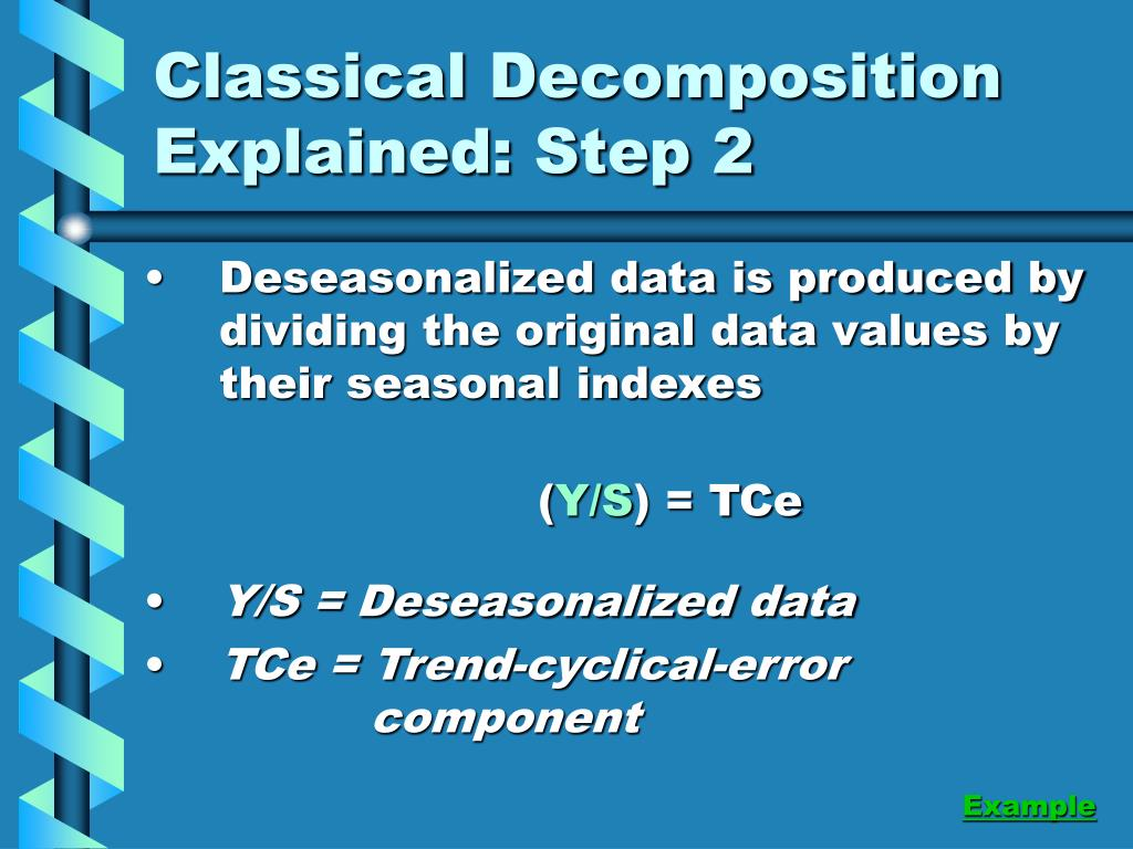 Classical Decomposition Explained: Step 2