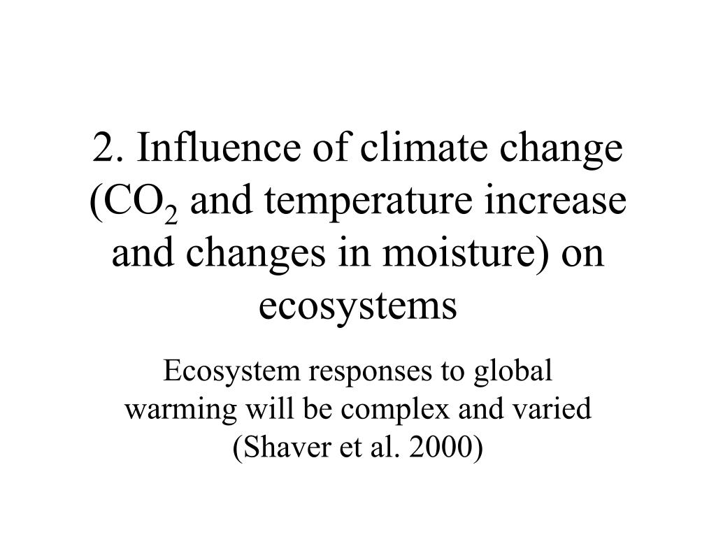 2. Influence of climate change