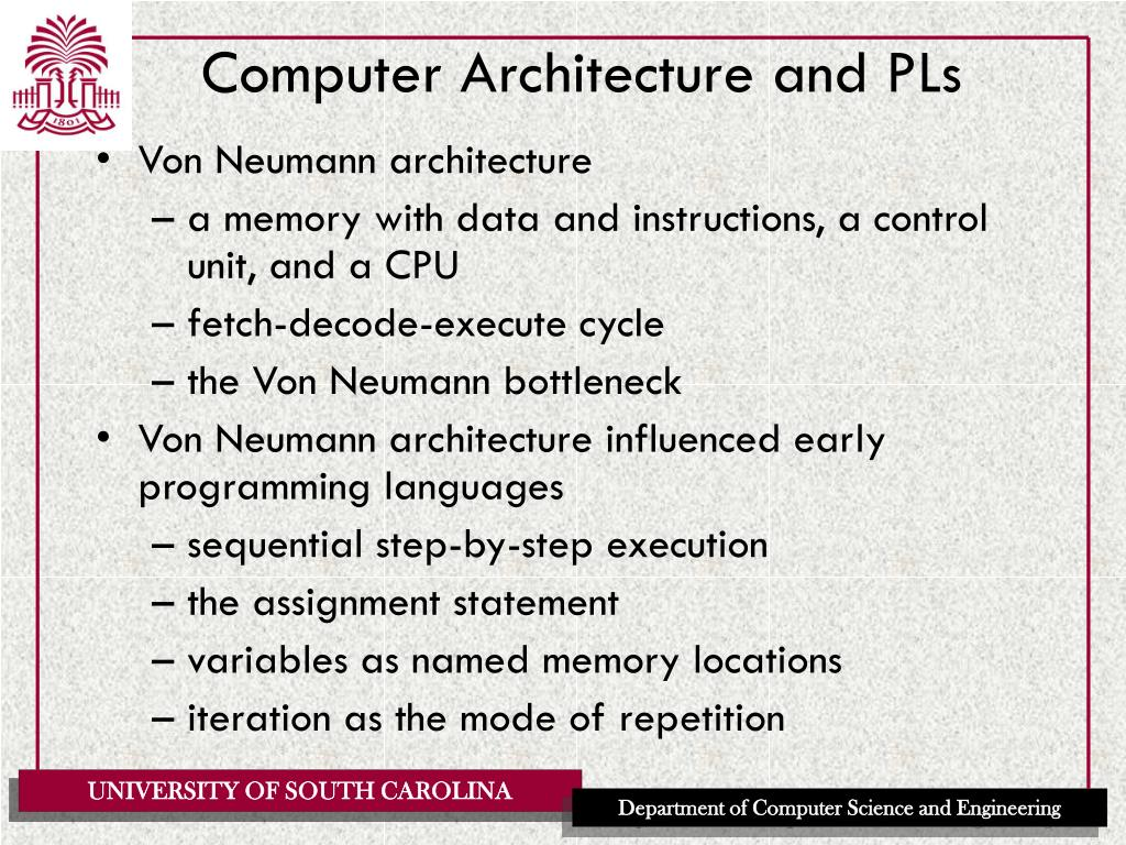 Computer Architecture and PLs