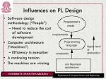 influences on pl design