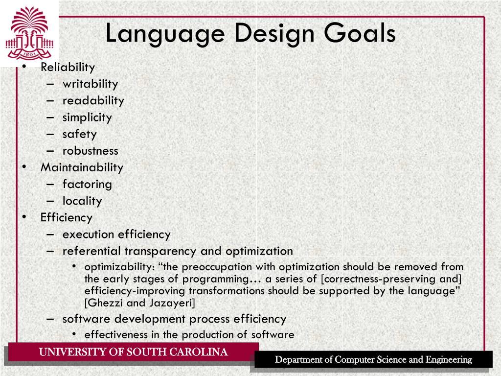 Language Design Goals