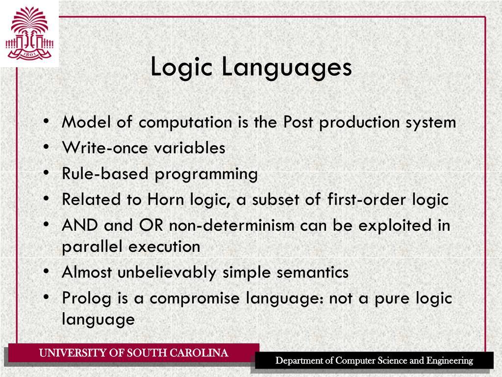 Logic Languages