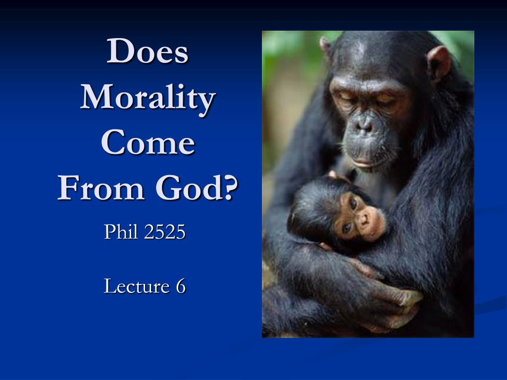 Does Morality Come