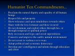 humanist ten commandments