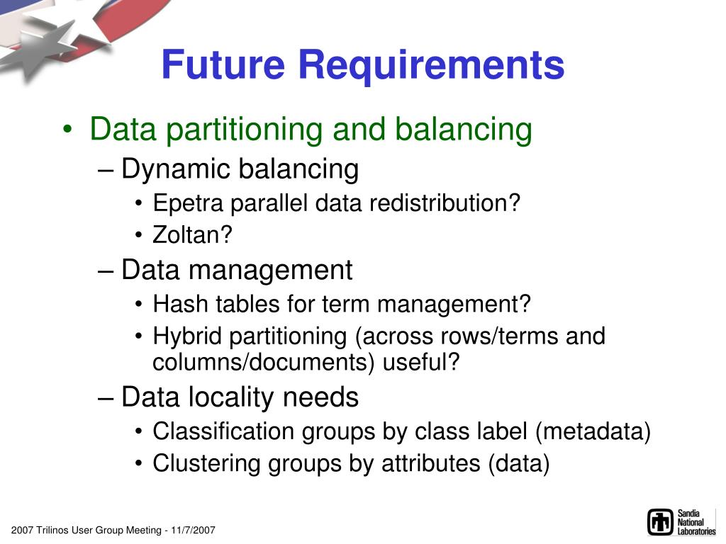 Future Requirements
