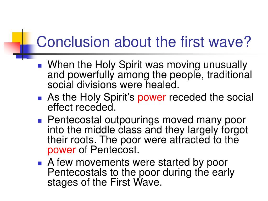 Conclusion about the first wave?