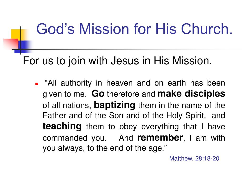 God's Mission for His Church.