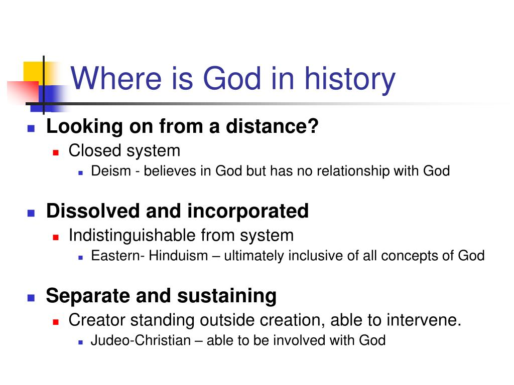 Where is God in history