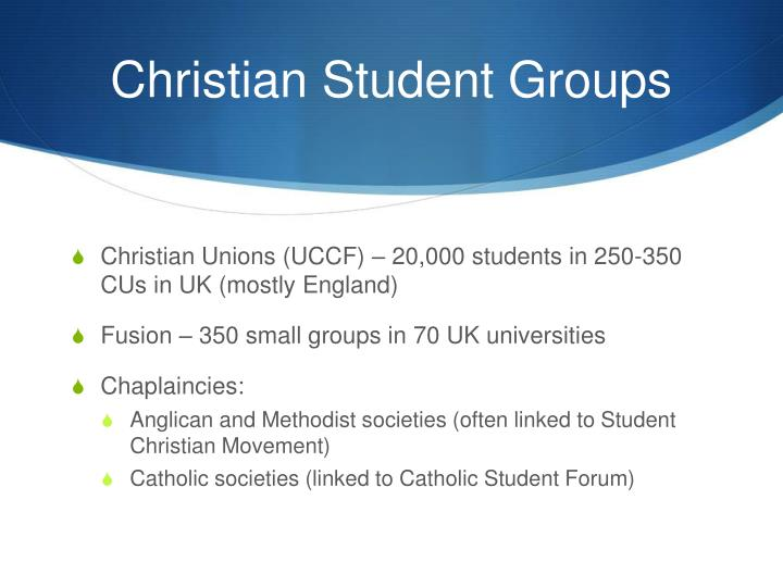 Christian Student Groups