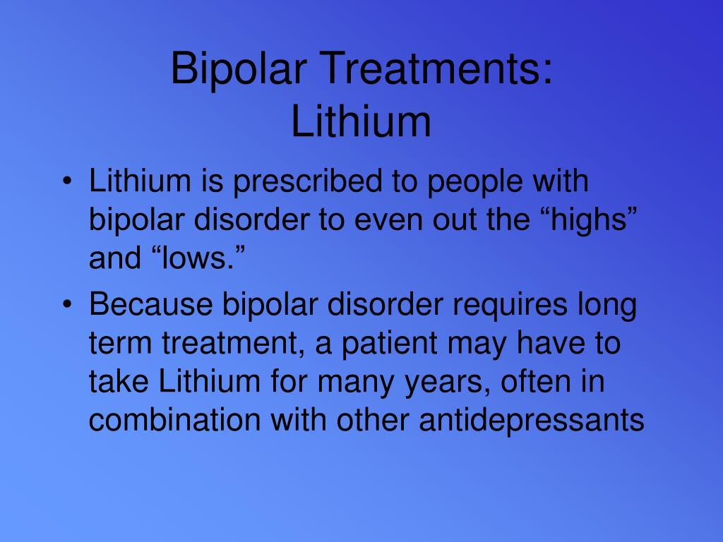 Bipolar Treatments: