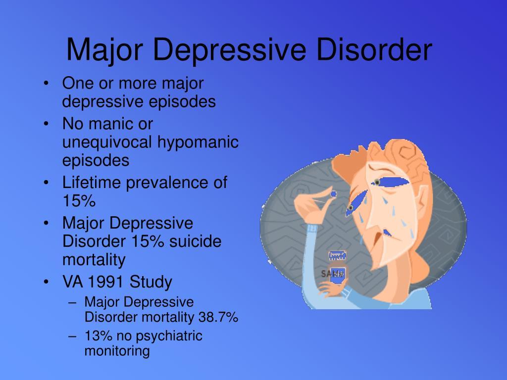 One or more major depressive episodes