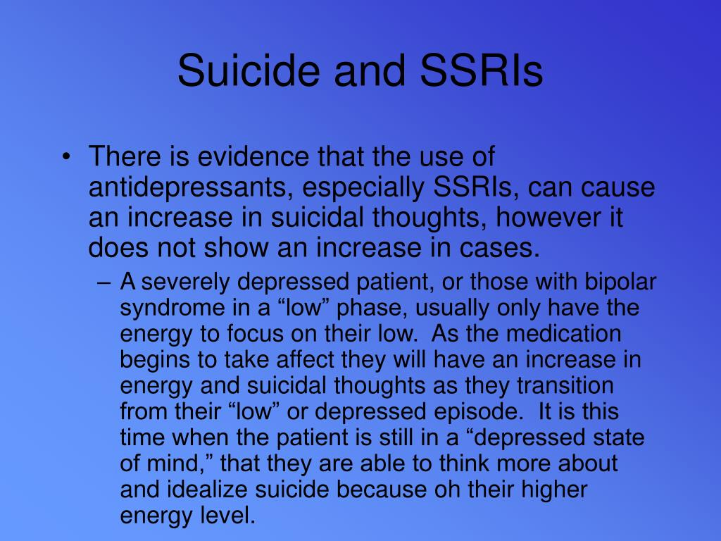 Suicide and SSRIs