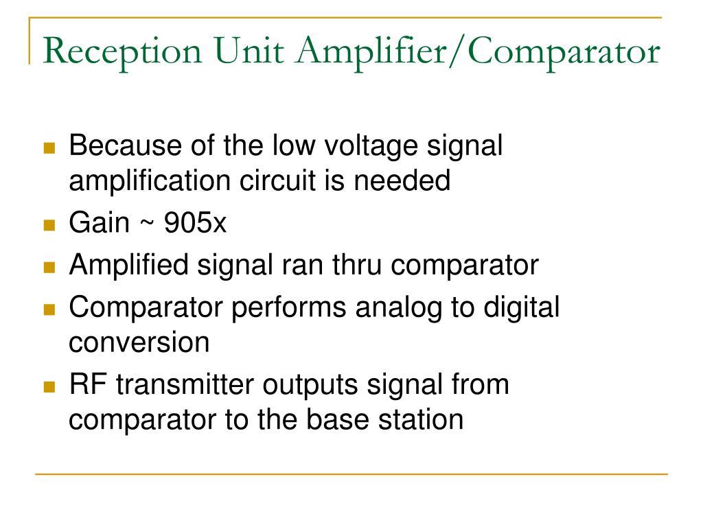 Reception Unit Amplifier/Comparator