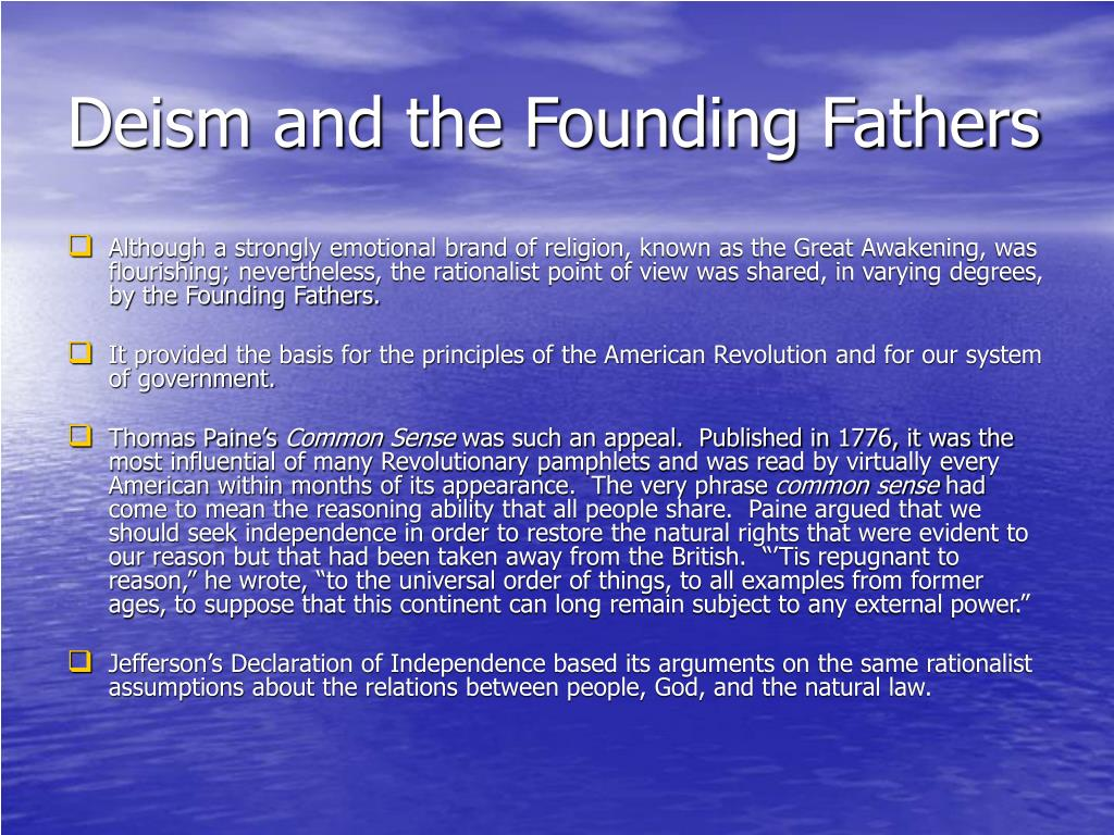 Deism and the Founding Fathers