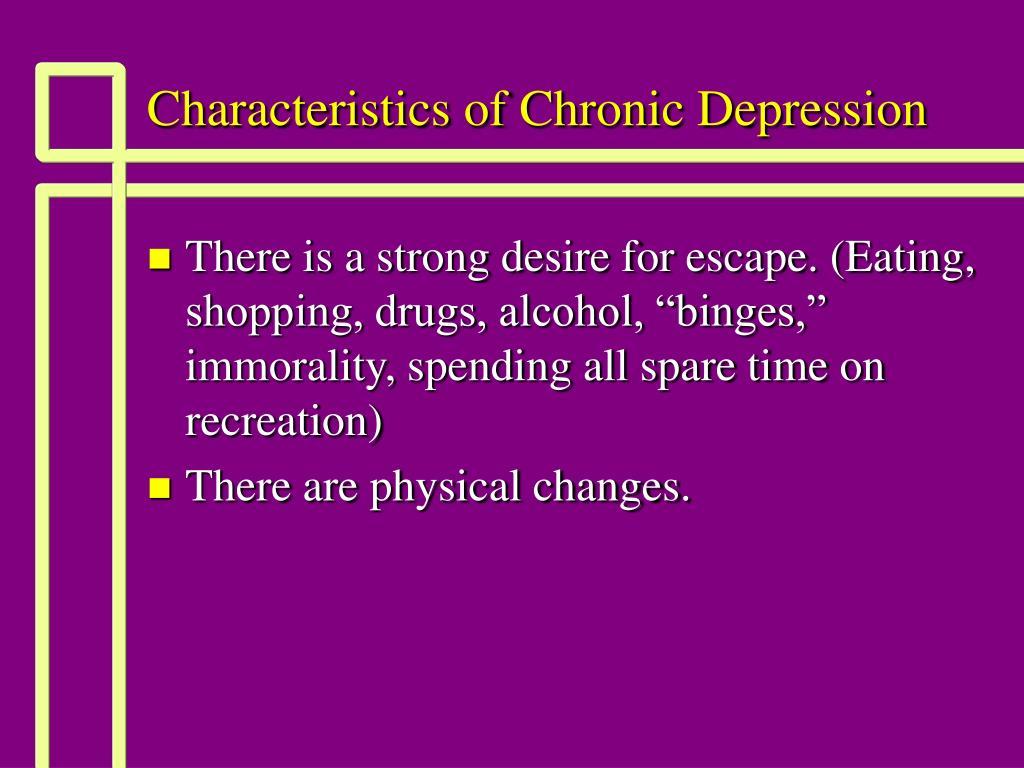Characteristics of Chronic Depression