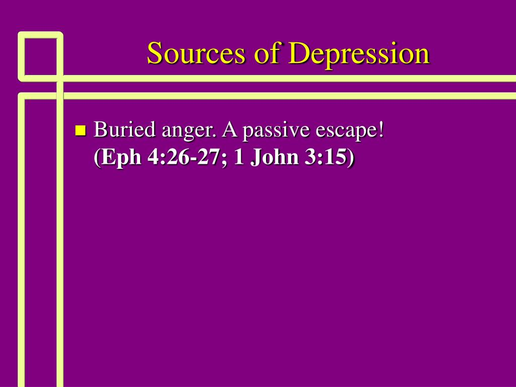 Sources of Depression