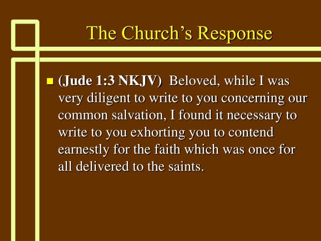 The Church's Response