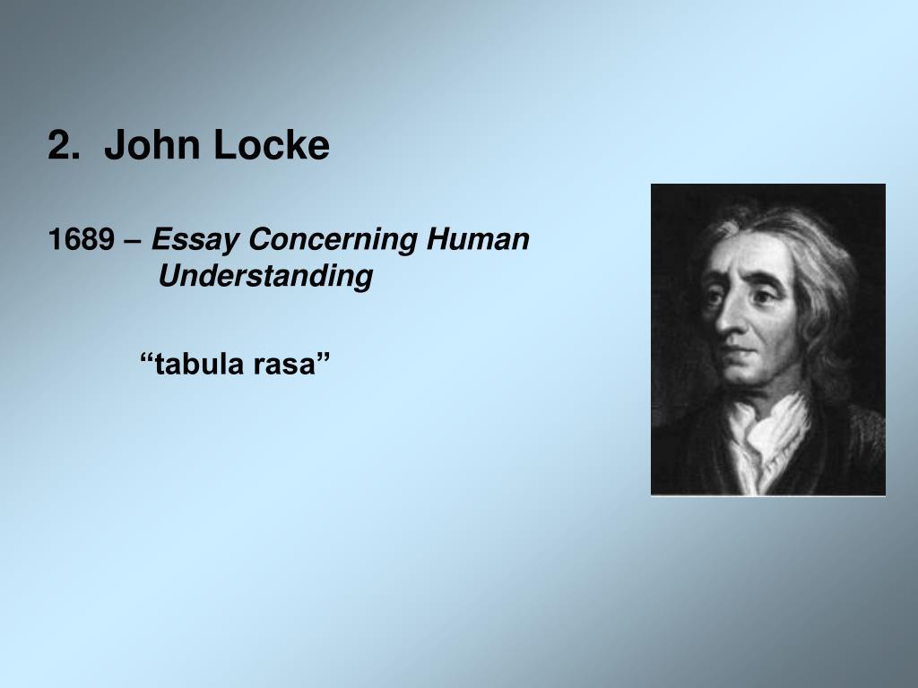 2.  John Locke
