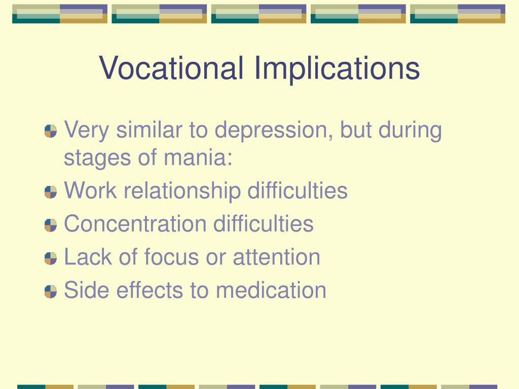 Vocational Implications