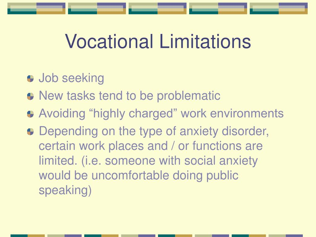 Vocational Limitations