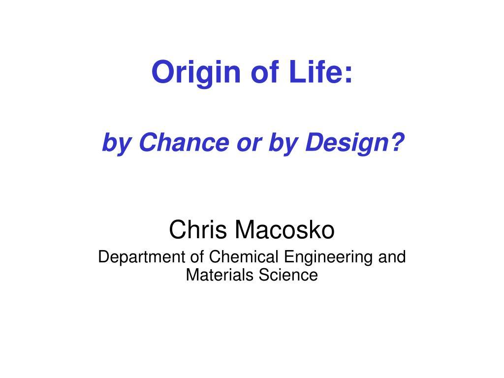 Origin of Life: