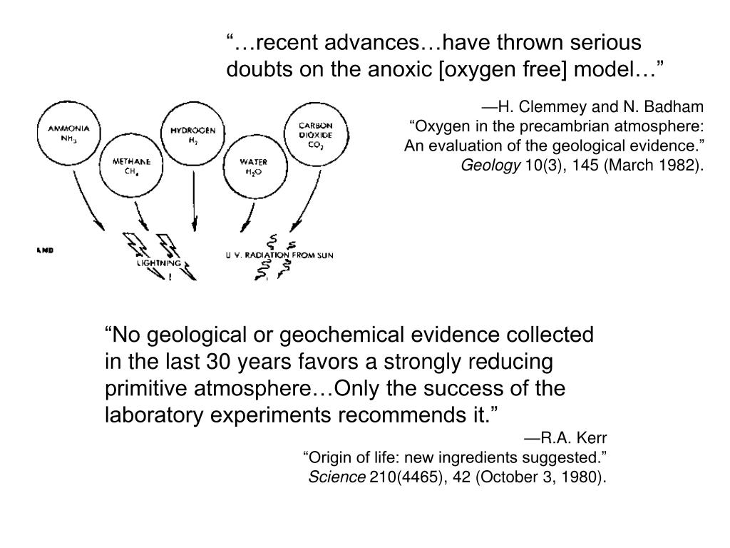 """""""…recent advances…have thrown serious doubts on the anoxic [oxygen free] model…"""""""