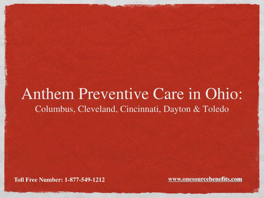 Anthem Preventive Care in Ohio: