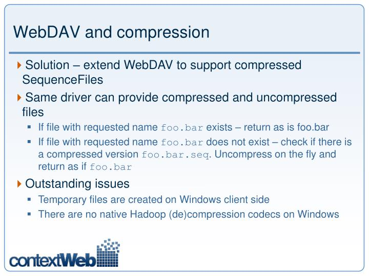 WebDAV and compression